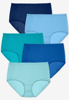 5-Pack Nylon Full-Cut Brief , BLUE MULTI PACK