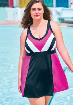 Colorblock Swimdress ,