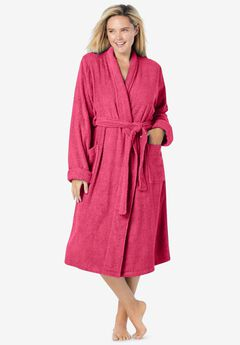 Short Terry Robe , PINK BURST