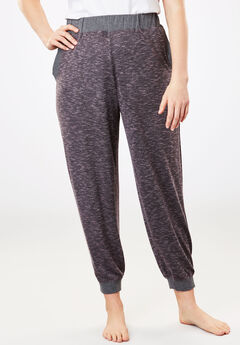 Lounge Jogger Pant by Dreams & Co.®, CHARCOAL GREY MARLED, hi-res