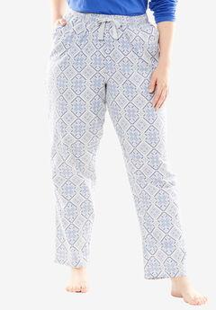Cotton Flannel Pants by Dreams & Co.®, ROYAL PERIWINKLE PLAID, hi-res