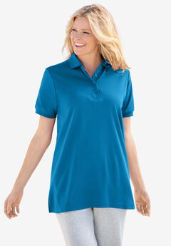 Elbow-Sleeve Polo Shirt,