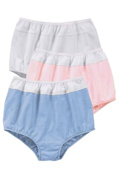 3-Pack Color Block Full-Cut Brief by Comfort Choice®, PASTEL ASSORTED
