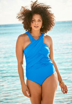 Wrap-Neck Maillot ,
