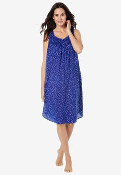 Pintuck Cooling Sleeveless Sleepshirt by Dreams & Co.,