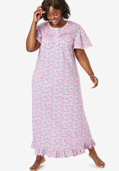 517a1fa34 Long Floral Print Cotton Gown by Dreams   Co.®