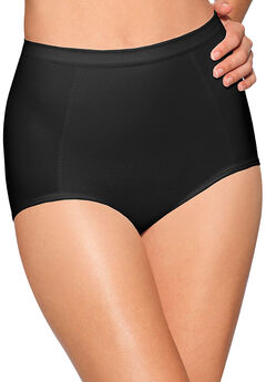 Seamless, extra-firm control shaping brief 2 pack by Bali®, BLACK