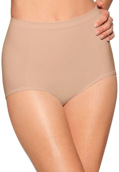 Seamless, extra-firm control shaping brief 2 pack by Bali®, NUDE