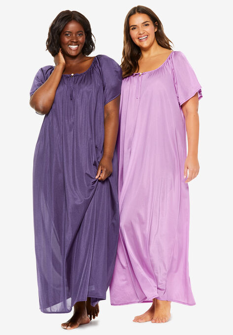 2-Pack Long Silky Gown by Only Necessities®