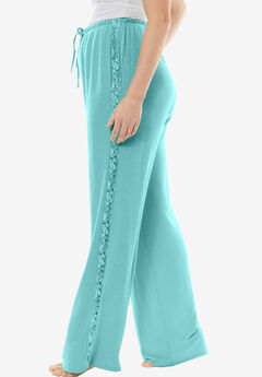 Lunar Lace Wide-Leg Pants,
