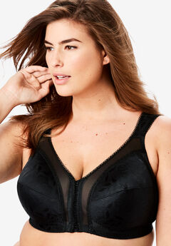 Front-Close Bra by Playtex® 18-Hour Support®, BLACK, hi-res