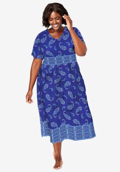 Crinkle Cotton Lounger , ULTRA BLUE PAISLEY