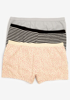 3-Pack Boyshort by Comfort Choice®, VANILLA DOT PACK