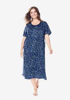 Scoopneck Sleepshirt by Dreams & Co.®, EVENING BLUE STARS