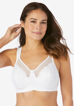 Embroidered Full-Coverage Wire-Free Bra,