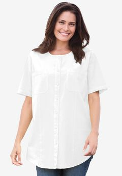 Shirt in crinkle cotton,