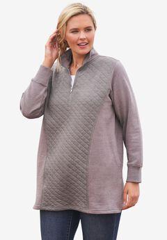 Quilted Fleece Sweatshirt,