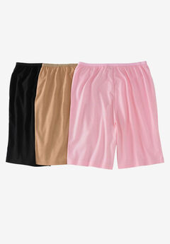 3-Pack Cotton Boyshort by Comfort Choice®, BASIC PACK, hi-res