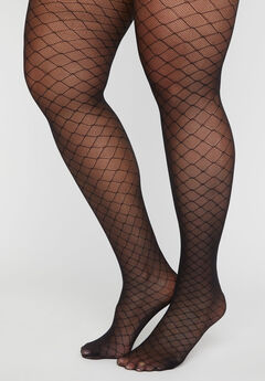 Lattice Fishnet Tights,