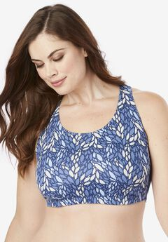 Low-Impact Cotton Leisure Bra by Leading Lady®,