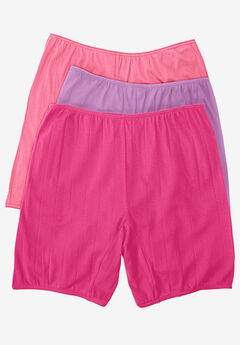 3-Pack Cotton Bloomer by Comfort Choice®, PINK PACK