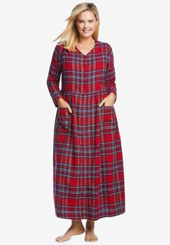 Flannel Plaid Lounger by Only Necessities®, CLASSIC RED PLAID