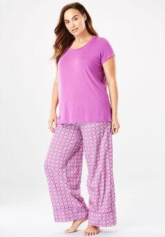 Wide Leg Pant PJ Set by Dreams & Co.®,