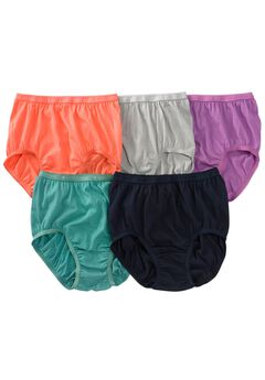 5-Pack Cotton Full-Cut Brief by Comfort Choice®, MIDTONE PACK, hi-res