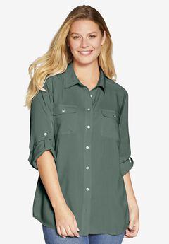 Utility Button Down Shirt,