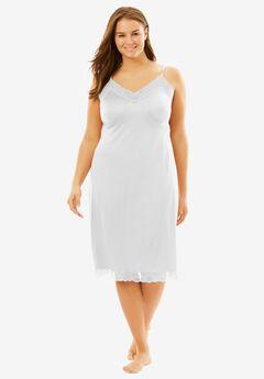 Double Skirted Full Slip by Comfort Choice®, WHITE, hi-res