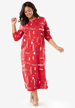 Holiday Print Sleepshirt by Dreams & Co.®,