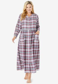 Flannel Plaid Lounger by Only Necessities®, RED WHITE PLAID