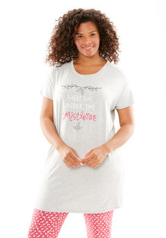 Soft Boxy Tunic, HEATHER GREY, hi-res
