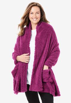 Sherpa Fleece Wrap, RASPBERRY