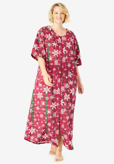 22eb148fccb4e Long French Terry Zip-Front Robe by Dreams   Co.®