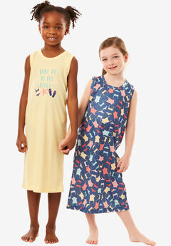 2-Pack Kids' Sleeveless Sleepshirts by Dreams & Co.®,