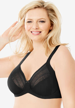 Lilyette® by Bali® Enchantment Lace Minimizer® Bra, BLACK LATTE, hi-res