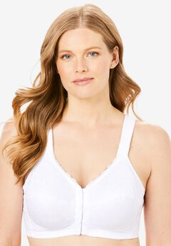 Lace Wireless Posture Bra , WHITE