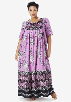 Mixed Print Long Lounger , LIGHT ORCHID FLORAL