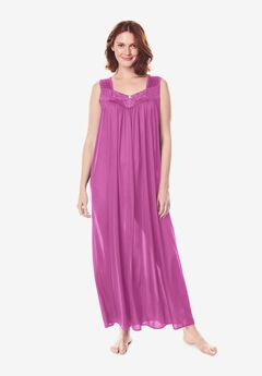 Long Tricot Knit Nightgown by Only Necessities®, ROSEBUD