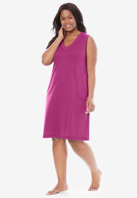 Short Knit Lounger By Dreams Co Plus Size Lounge Dresses Roamans