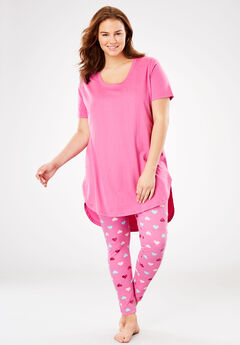 Graphic Tunic PJ Set by Dreams & Co.®, PINK HEART
