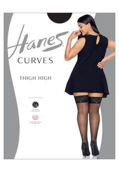 Hanes Curves Lace Thigh High,