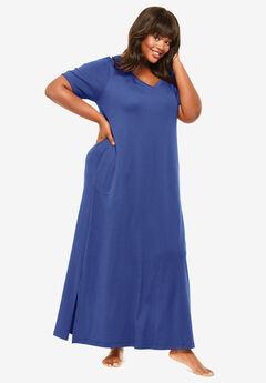Long T-Shirt Lounger by Dreams & Co.®, ULTRA BLUE
