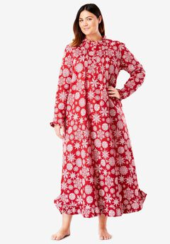 Long Flannel Nightgown by Only Necessities®, , hi-res