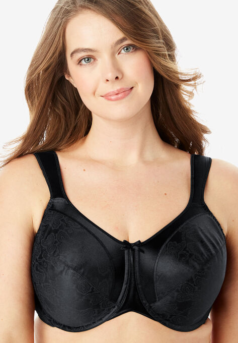 classic 2019 original official images Bali® Satin Tracings® Underwire Minimizer Bra #3562| Plus ...