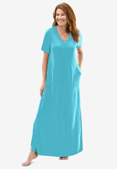 Long T-Shirt Lounger by Dreams & Co.®, CARIBBEAN BLUE