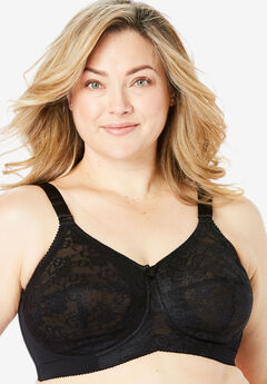 Elila® Lace Soft Cup Bra, BLACK