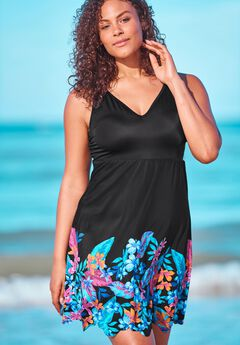 Floral Border Swim Dress by Swim 365,
