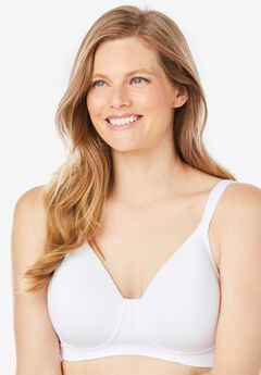 Brigitte Full Coverage Seamless Wireless Bra 5042, WHITE